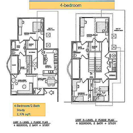 Yulupa Cohousing: Picture of 4 bedroom floorplan