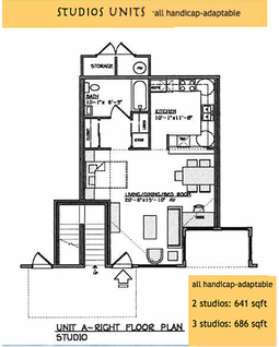 Yulupa Cohousing: Studio floorplan