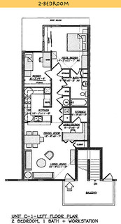 Yulupa Cohousing: Picture of alternate 2 bedroom floorplan