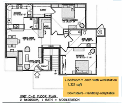 Yulupa Cohousing: 2 bedroom floorplan